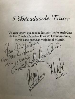 Autógrafo Los Andinos