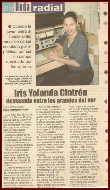 Entrevista a Iris Cintrón