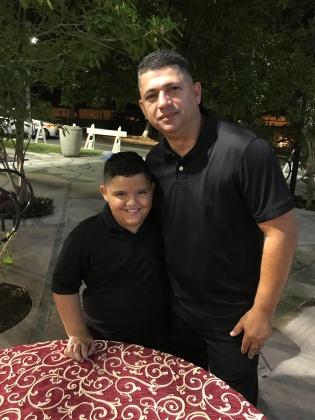 Bryan y su papá