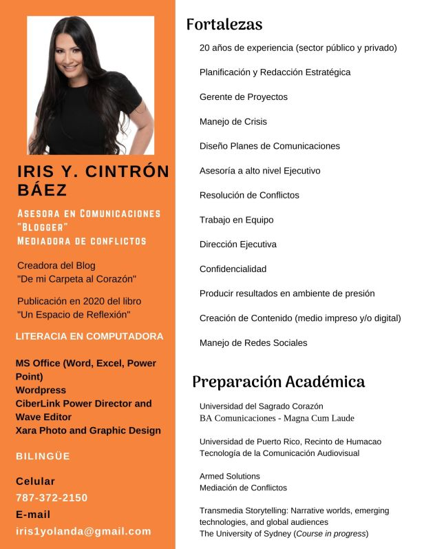 Iris Y Cintrón - Perfil Profesional A